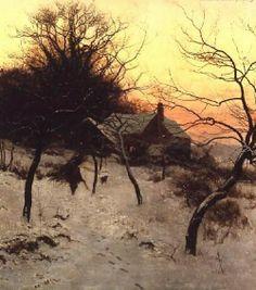 Edward Wilkins Waite - Mid-winter at Abinger Hammer, near Dorking - 1892