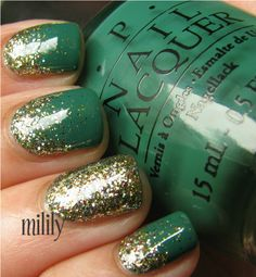 Milily — OPI Jade Is The New Black with OPI Glow Up...