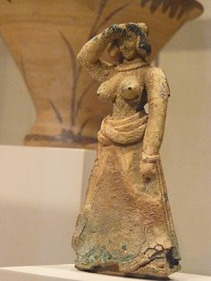 Bronze Female Figure, Late Minoan I 1600-1450 BC, Crete, Greece