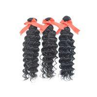 3pcs/lot,5A Queen Hair, Peruvian Virgin Deep Hair, Remy Hair ,Human Hair ,Natural Color 1B ,Tangle Free Shipping