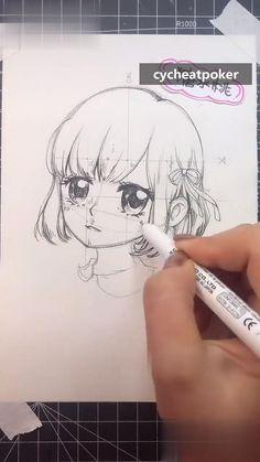 Art Drawings Sketches Simple, Pencil Art Drawings, Cute Drawings, Art Drawings Beautiful, Anime Character Drawing, Cartoon Art Styles, Art Tutorials, Cute Art, Chinese