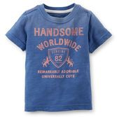 You can always count on him to be remarkably adorable in this tee. Vintage graphics give a lived-in look he'll love.