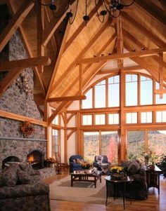 Hammer Beam Truss | Timberpeg Timber Frame | Even if we can't use real hammer beams for the design we are planning, we can still have trusses that look like this.
