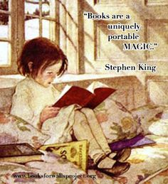 The Books for Walls Project: Why Read? Quotes to Make It Clearer: Stephen King