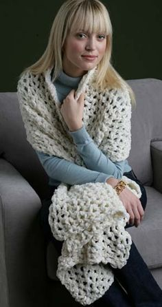 Free+Crochet+Pattern+Lion+Brand | This beautiful shawl is also popular for use as a prayer shawl .