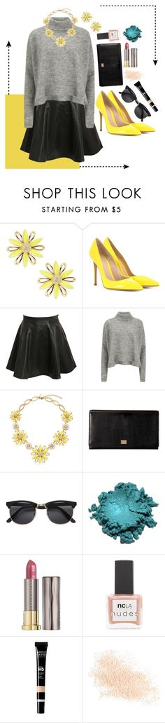 """""""Untitled #42"""" by madammalkin ❤ liked on Polyvore featuring Kate Spade, Gianvito Rossi, Pilot, Designers Remix, Dolce&Gabbana, Urban Decay, ncLA, Eve Lom, yellow and black"""