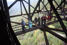 catwalk under the New River Gorge Bridge. No Way!!!   The previous pic of the cat walk I thought I might be able to do it but after seeing this one...not a chance!