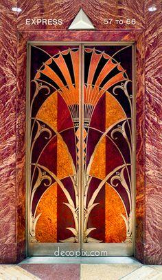 Elevator Door, Chrysler Bldg., NYC