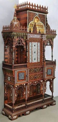 Buy online, view images and see past prices for An important, royal piece of furniture donated by Sultan Abdul Hamid II. Invaluable is the world's largest marketplace for art, antiques, and collectibles. Egyptian Furniture, Antique Furniture, Arabic Design, Ottoman Empire, Coat Of Arms, Arabesque, Floral Motif, Islamic Art, Wood Design