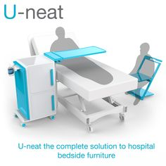 U-neat is the redesign of the hospital bed table and locker.  http://www.jamesdysonaward.org/Projects/Project.aspx?ID=2805=11=0