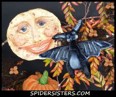 Inky- Sweet mini velvet bat --Original Spiders Sisters design  for sale now on ebay item #151128191320 Please stop by and see what else we have listed. :)