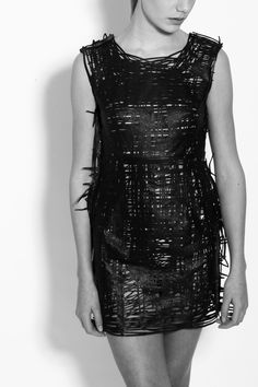 drawn lasercut dress by Elvira't Hart