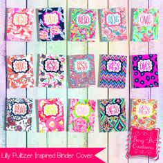 Lilly Pulitzer Inspired Binder Cover by BusyBsCreationsShop
