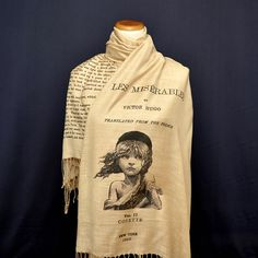 Les Misérables by Victor Hugo Shawl Scarf by UniversalZone on Etsy
