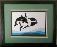 One of my newest designs is my Quilled dolphin and baby.