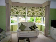 curtains, blinds, pelmets, tiebacks and cushions all made at fabric box