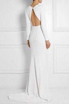 Stella McCartney - Renee open-back crepe gown