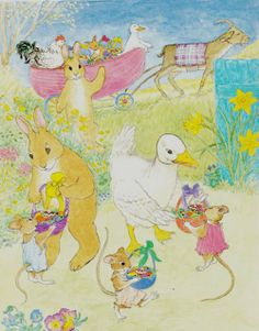 Easter Parade - Illustration by Mary Chalmers