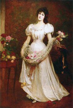 "George Gordon Fraser (1859-1895), ""An apron of roses"""