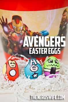 How to Make Avengers Easter Eggs #DisneyEaster #ad