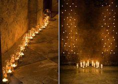 Lichterketten und Kerzenideen Hochzeit | Friedatheres.com