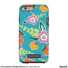 Personalised   Bright Blooms Tough iPhone 6 Case
