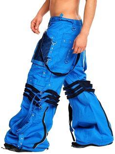 Amok Blue Straps Pants