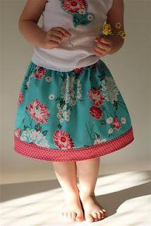 Diary of a Flutter.Kat: Easy Peasy Overlock/Serge -Free Child's Skirt Tutorial