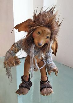 """Tam the Troll Child, by Wendy Froud, 12"""" tall"""