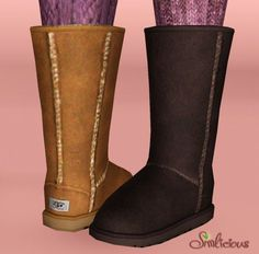 Ugg boots classic tall by Simlicious - Sims 3 Downloads CC Caboodle