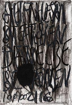 YOSEF JOSEPH DADOUNE   Auf dem gleichen ton be ( Black cercle ) arren 10/02/16   Pastels on Nostalgique Hahnemühle paper  59,4 x 84,1cm (A1) - 190g/m²  Photographer: Yigal Pardo