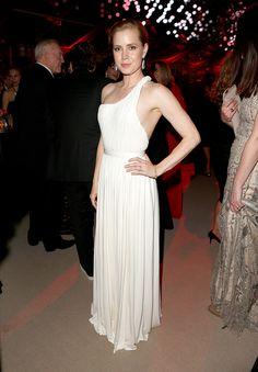 Amy Adams in Carolina Herrera....At the Vanity Fair Oscar Party, March 2014
