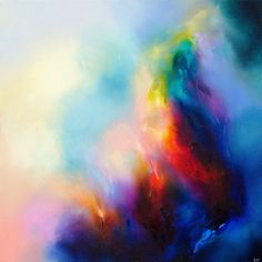 Liv Vardy - Glimmer - Abstract - Painting