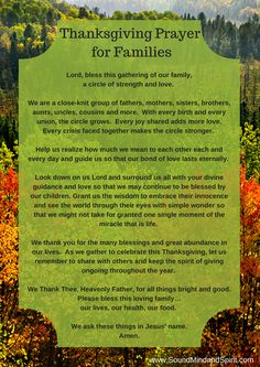 Blessings of Thanksgiving - Thanksgiving Prayer for Family