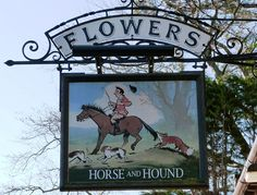 Pub Sign Art a la cARTe: Horse & Hound - Broadway, Worcestershire