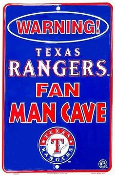 Texas Rangers MLB Fan Man Cave Parking Sign New #GalanEnterprises #TexasRangers