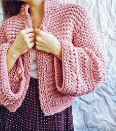 Chunky short cardigan, women's wool cardigan, pink cardigan with wide sleeves, bomber jacket Source by toropovam Cardigans Pink Cardigan, Cable Knit Cardigan, Sweater And Shorts, Crochet Cardigan, Angora Sweater, Knit Fashion, Cardigans For Women, Knitwear, Clothes For Women