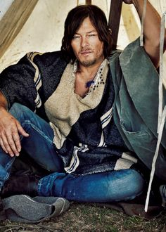 Norman Reedus photographed by Marc Hom for Men's Journal