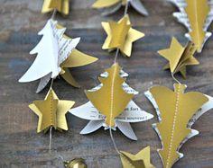 Weihnachtsgirlande, Weihnachtsbaum Girlande, gold Weihnachten Kranz, gold Girlande, Silvester, Hochzeit, Glöckchen, gold-Thema-Partei