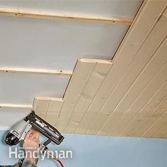 Installing tongue-and-groove (aka T&G) boards is a fast, inexpensive way to panel any ceiling or wall. You can install T&G over bare framing, drywall or plaster, so it's a great cover-up for an ugly ceiling.
