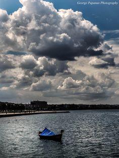 Παραλία Θεσσαλονίκης... Όμορφα σύννεφα... Thessaloniki Macedonia, Seasons In The Sun, Crete Greece, Thessaloniki, Nymph, Homeland, Irene, The Past, Tower