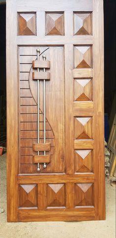 Front Door Design Wood, Wooden Door Design, Wooden Doors, Wood Design, Armoire, Door Handles, New Homes, Furniture, Home Decor