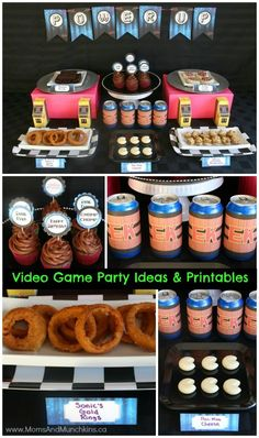 Retro Video Game Party Ideas - video game party food, favors, decorating ideas, printables and more!