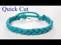 Paracord Bracelet: 3 Strand Braid Rastaclat Bracelet Modified Mad Max Closure - Quick Cut - YouTube