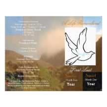 A Life Remembered Funeral Program-single fold Personalized Flyer