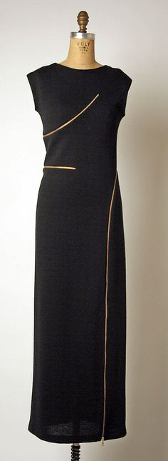 Geoffrey #Beene 1999 #black #zipper #dress