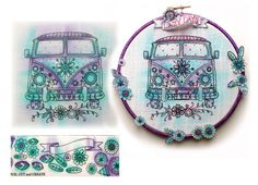 If you cant have a real one, a Campervan embroidery pattern is the next best thing.