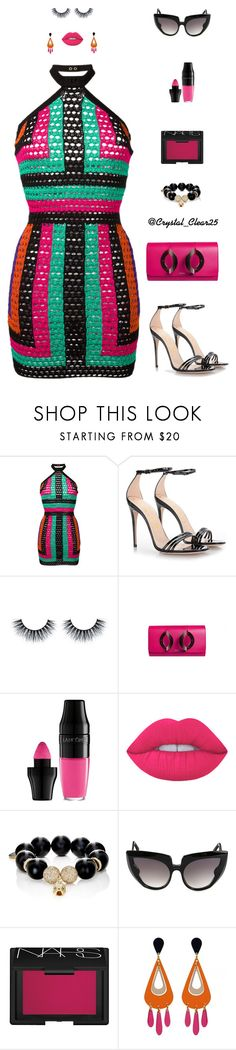 """""""Summer Vibes"""" by crystal-castleberry on Polyvore featuring Balmain, Gucci, Perrin, Lancôme, Lime Crime, Carole Shashona, Barn's and NARS Cosmetics"""