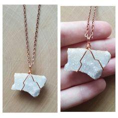 Wire Wrapped Arkansas Quartz Crystal Necklace
