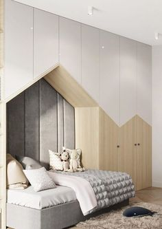 Simple Bedroom For Kids Modern Kids Bedroom, Kids Bedroom Designs, Kids Room Design, Modern Room, Bedroom Kids, Baby Room Decor, Cozy House, Girl Room, Decoration